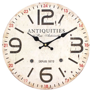 Distressed Look Antiquities Wall Clock