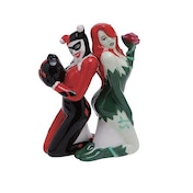 Batman Harley Quinn and Poison Ivy Salt and Pepper Shakers
