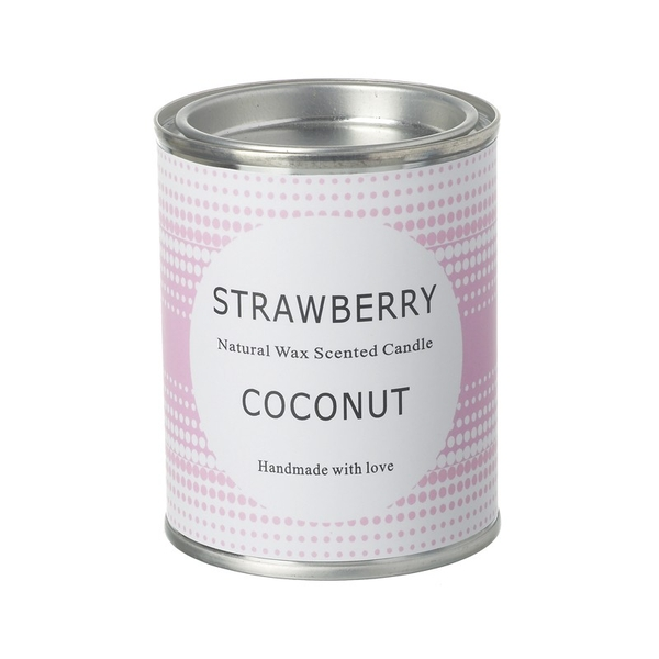 Strawberry Coconut Scented Candle By Heaven Sends