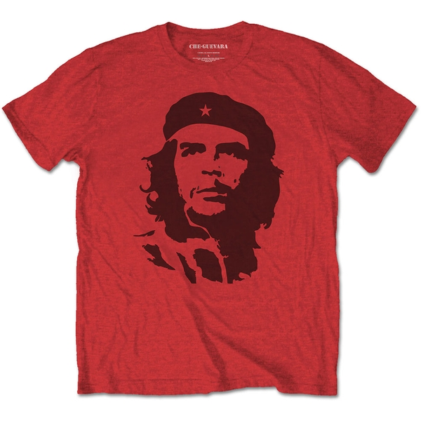 Che Guevara - Black on Red Unisex Large T-Shirt - Red