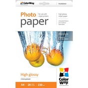 ColorWay Print High Glossy A4 230gms Photo Paper 20 Sheets