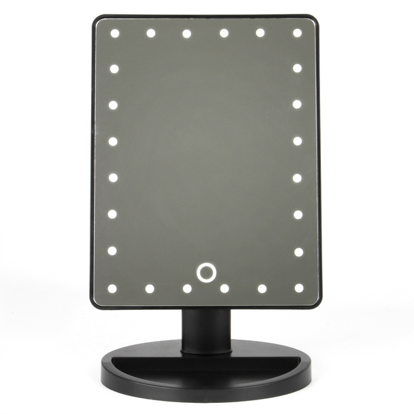 LED Light Up Illuminated Make Up Bathroom Mirror With Magnifier | M&W Black New - Image 9