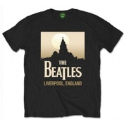 The Beatles Liverpool England mens Blk Tshirt: Large