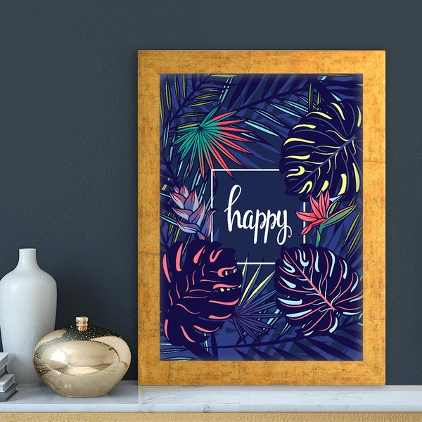 AC10331228591 Multicolor Decorative Framed MDF Painting