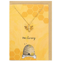 Hey Honey Necklace And Card Set  Pack Of 15
