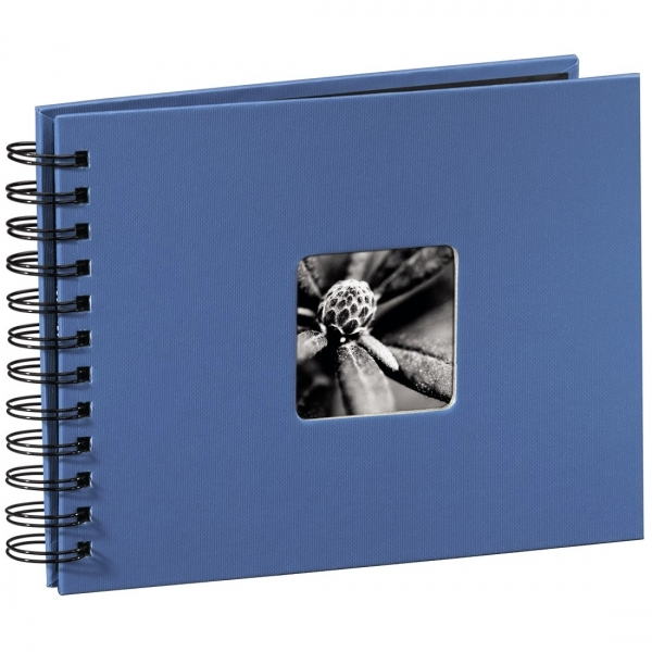 Hama Fine Art Spiral Bound Album 24 x 17cm 50 black pages Azure
