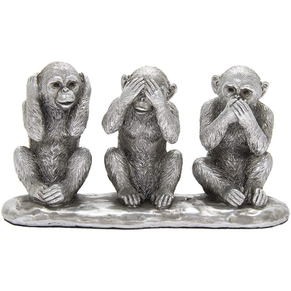 Silver Three Wise Monkeys By Leonardo
