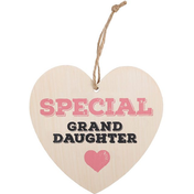 Special Granddaughter Hanging Heart Sign