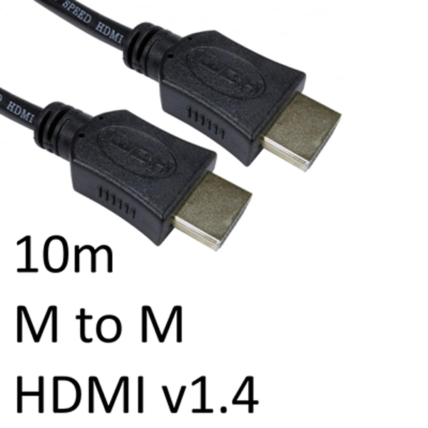 HDMI 1.4 (M) to HDMI 1.4 (M) 10m Black OEM Display Cable - Image 1