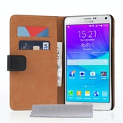 Samsung Galaxy Note 5 Real Leather Wallet Case - Black