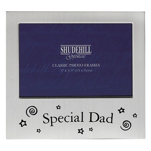 Satin Silver Occasion Frame Special Dad 5x3