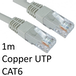 RJ45 (M) to RJ45 (M) CAT6 1m Grey OEM Moulded Boot Copper UTP Network Cable - Image 2