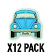 Fresh/Blue VW Beetle  (Pack Of 12) Air Freshener - Image 2