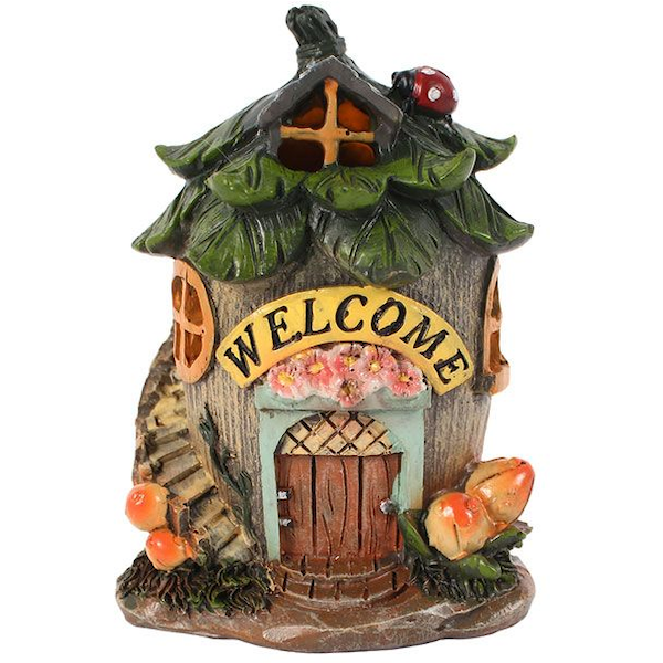 Small Fairy Welcome House with LED