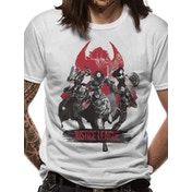 Justice League Movie - Fight Men's Large T-Shirt - White