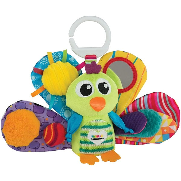 Lamaze On The Go Jacque the Peacock Newborn Baby Toy