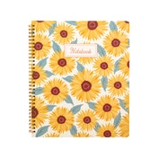Sass & Belle Sunflowers A4 Lined Notebook