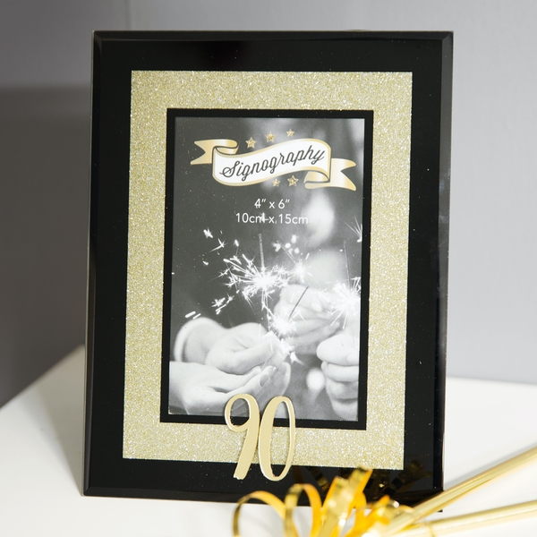 Signography Gold Glitter 90 Glass Frame | 4x6