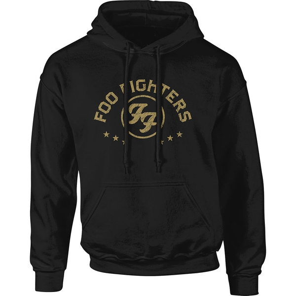 Foo Fighters - Arched Stars Unisex Small Pullover Hoodie - Black