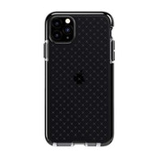 Tech21 Protective Apple iPhone 11 Pro Max Case Thin Patterned Back Cover with FlexShock - Evo Check - Smokey/Black