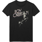 Roy Orbison - Guitar & Logo Men's XX-Large T-Shirt - Black