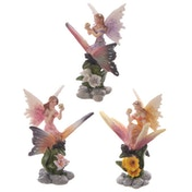 Flower Fairy Riding Butterfly Figurine (1 Random Supplied)