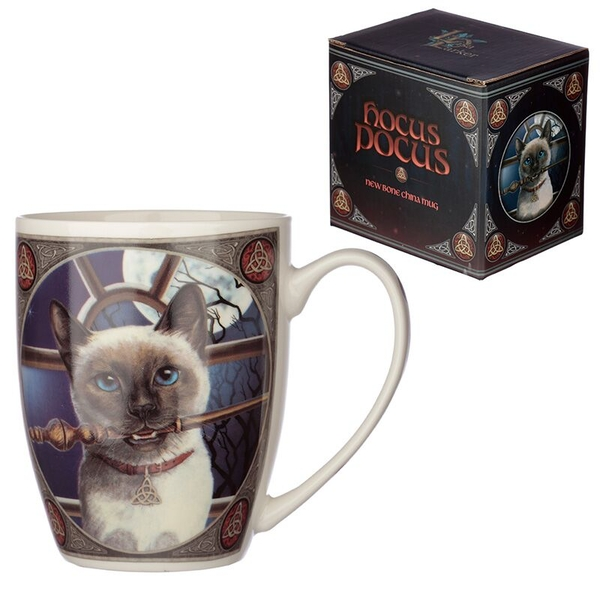 Hocus Pocus Cat Lisa Parker New Bone China Mug
