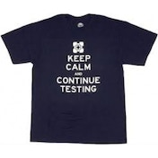 Portal 2 Keep Calm and Continue Testing T-Shirt Small