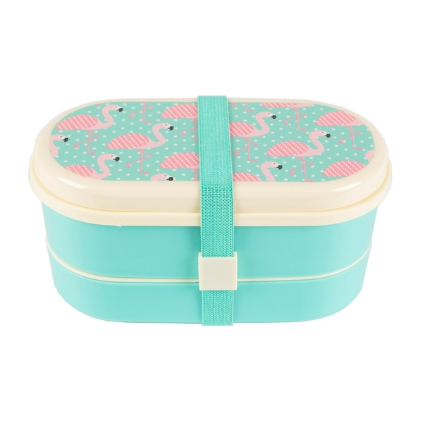 Sass & Belle Pink Flamingo Bento Lunch Box
