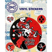 Harley Quinn - Retro Vinyl Sticker