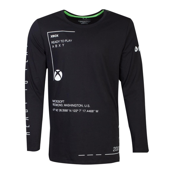 Microsoft - Ready To Play Men's Large Long Sleeve Shirt - Black