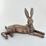 Bluebell Hare Cold Cast Bronze Sculpture 12.5cm