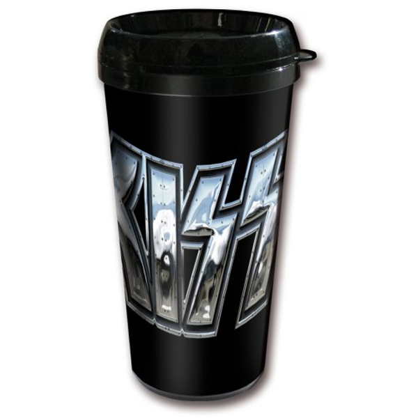 KISS - Chrome Logo Travel Mug
