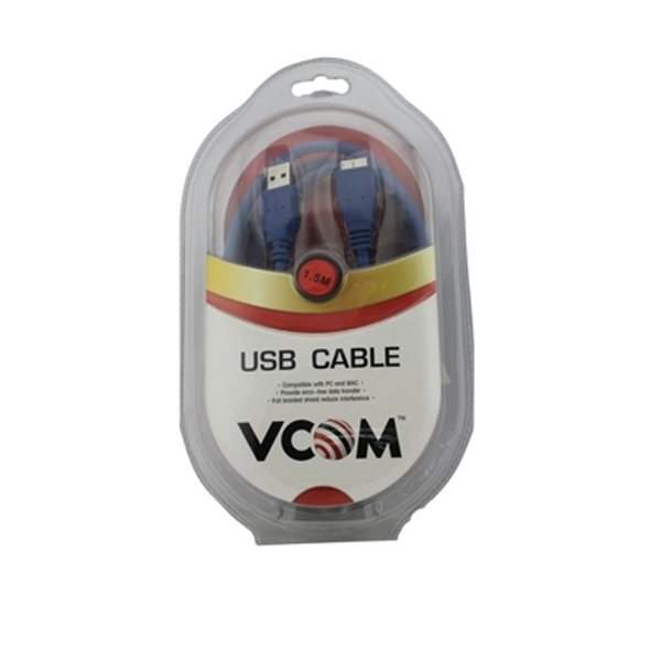 Image of VCOM USB 3.0 A (M) to USB 3.0 Micro B (M) 1.8m Blue Retail Packaged Data Cable