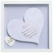 Said with Sentiment Square Heart Frames Auntie