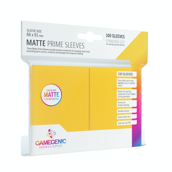 Gamegenic Matte Prime Yellow - 100 Sleeves
