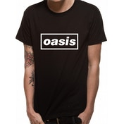 Oasis - Black Logo Men's Large T-Shirt - Black