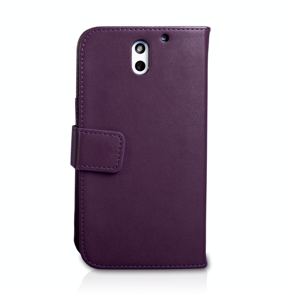 YouSave Accessories HTC Desire 610 Leather-Effect Wallet Case - Purple - Image 2