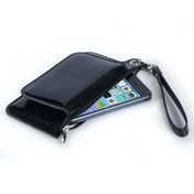 Caseflex iPhone 6 / 6s Leather Effect Gloss Purse - Black