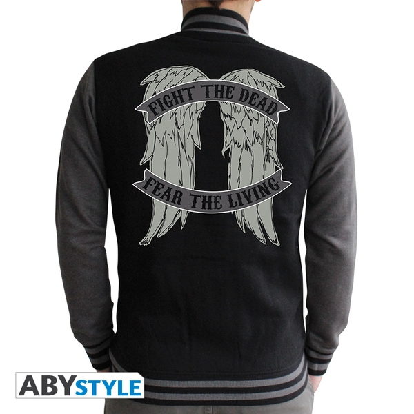 The Walking Dead - Angel Wings Men's Large Hoodie - Black - Image 1