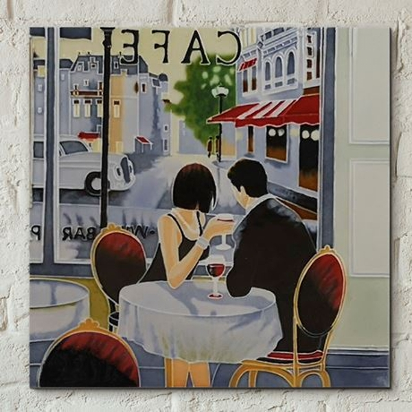 Tile 8x8 After Hours By B Heighton Wall Art
