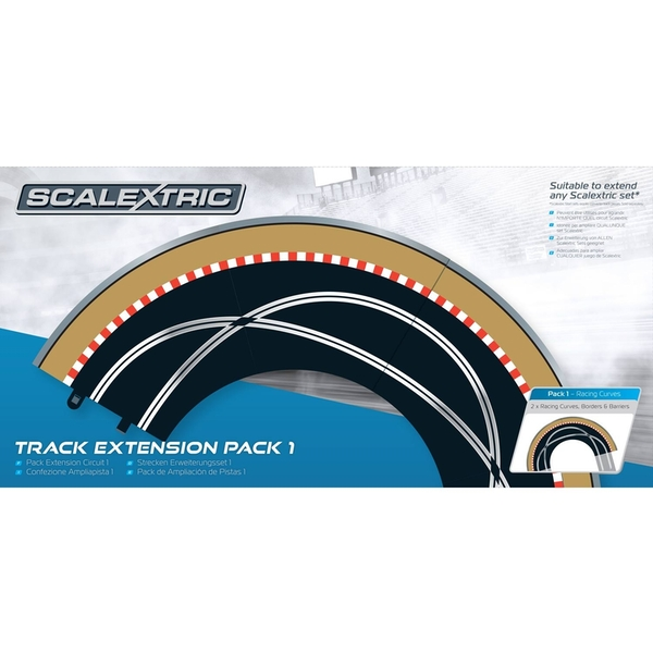 Racing Curve Track Extension Pack 1 Scalextric Accessory Pack