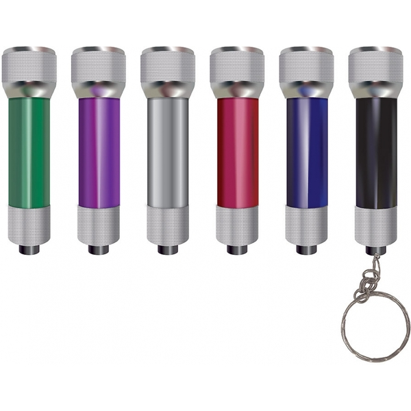 Infapower 5 LED Aluminium Keyring Torch (pack of 24)
