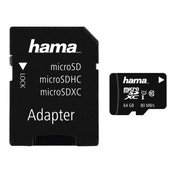 Hama microSDXC 64GB Class 10 UHS-I 80MB/s + Adapter/Photo