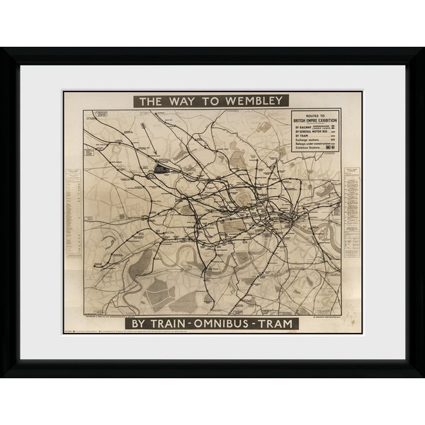 "Transport For London Way To Wembley 12"" x 16"" Framed Collector Print"