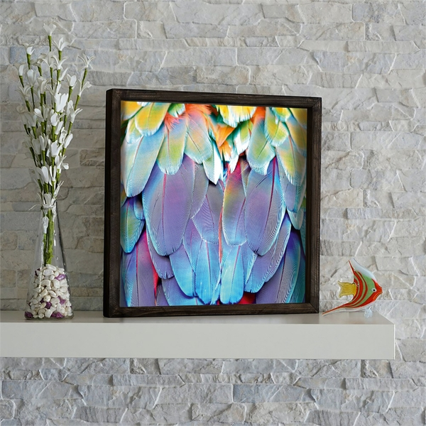 KZM531 Multicolor Decorative Framed MDF Painting
