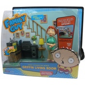 Family Guy Griffin Family Living Room With Lois Figure