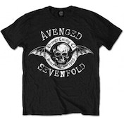 EXCL Avenged Sevenfold Origins Blk T Shirt: Large