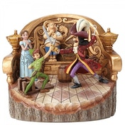 Daring Duel Carved by Heart Peter Pan Palm Tree (Peter Pan) Disney Traditions Figurine