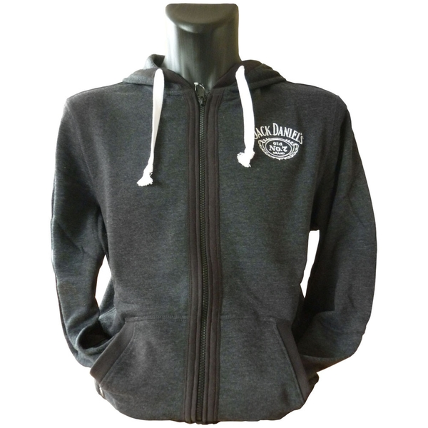 Jack Daniel'S - Old No.7 Brand Logo Men's Small Zipper Hoodie - Multi-Colour